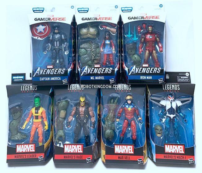 "Marvel Legends Gameverse 6"" Wave 1 Set of 8. (Captain America, Iron Man, Mar-Vell, Ms. Marvel, Mach-I, Leader, Rage, BAF Abomination). Available Now!"