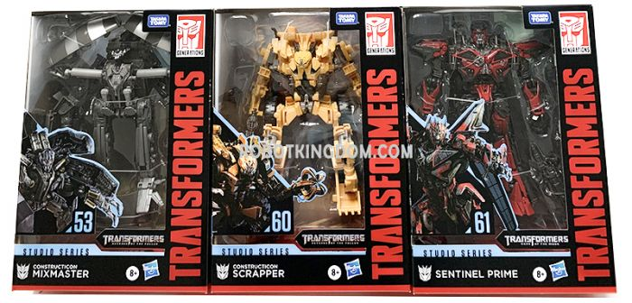 TRANSFORMERS Generations STUDIO SERIES VOYAGER 2020 Wave 2 set of 3 (SCRAPPER,SENTINEL P, MIXMASTER). Available Now!