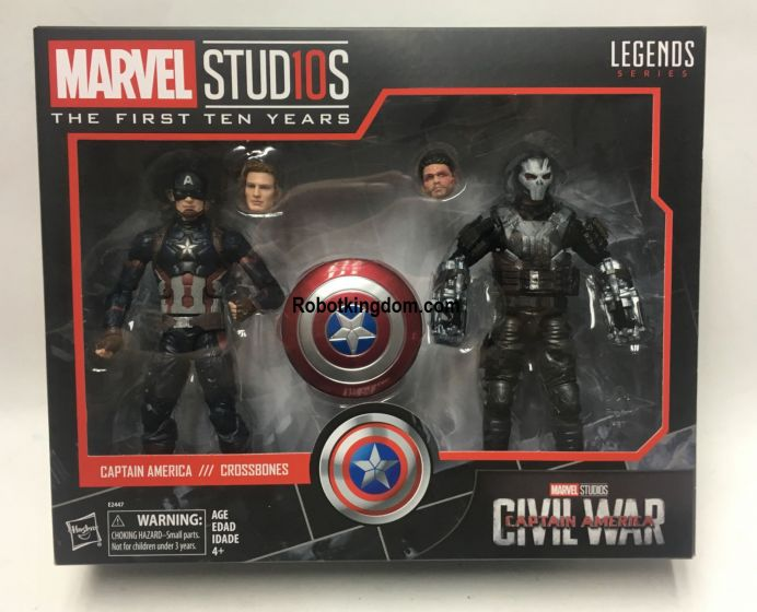 Marvel Legends Cinematic Universe 10th Anniversary Captain America and Crossbones. Available NOW!