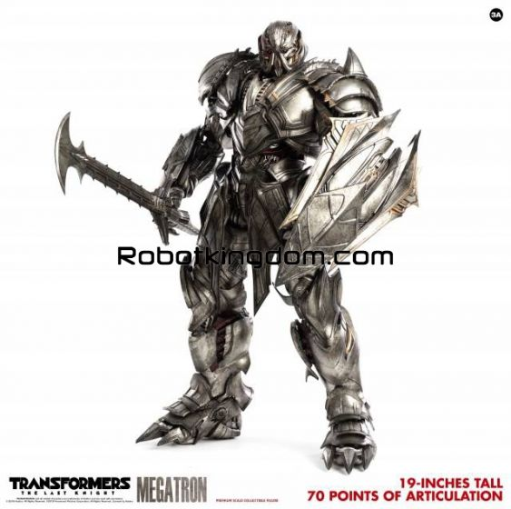 Hasbro x ThreeA : MEGATRON DELUXE Transformers The Last Knight Premium Scale Collectible Series. Preorder. Available in 1st quarter 2020.
