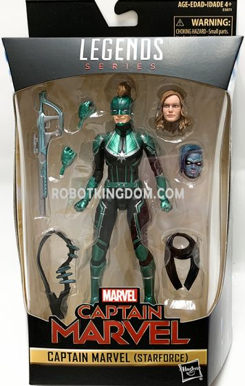 "Exclusives Marvel Legends 6"" Captain Marvel (Starforce) Figure. Available Now!"