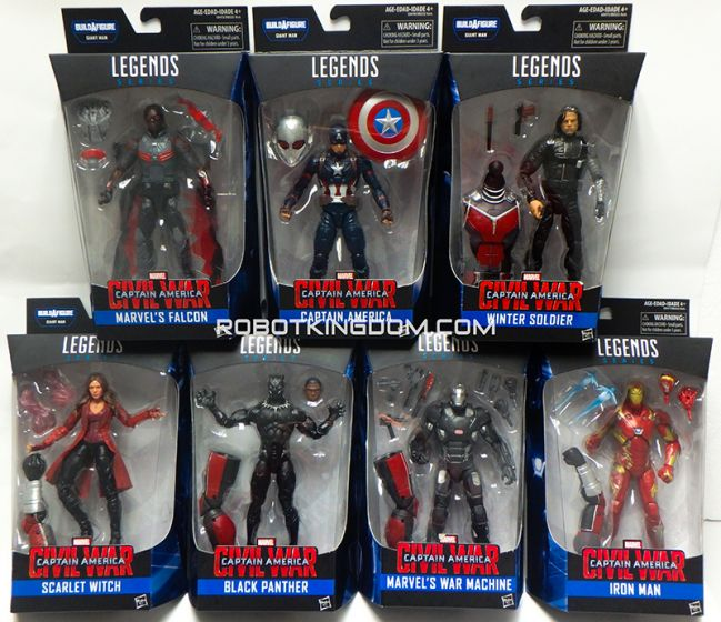 "Hasbro Captain America Civil War Marvel Legends 6"" Assortment 2017 Case of 8. Available Now!"