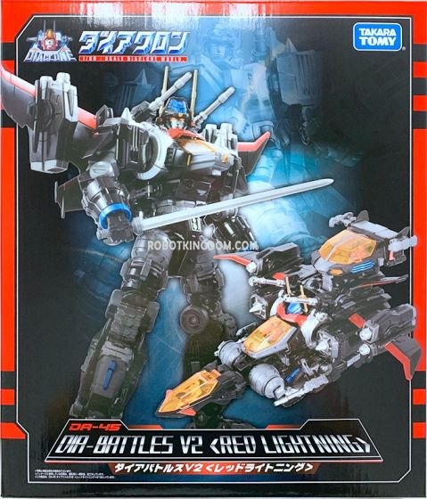 Takaratomy Mall Diaclone DA-45 DIABATTLES Red Lightening. Available Now!