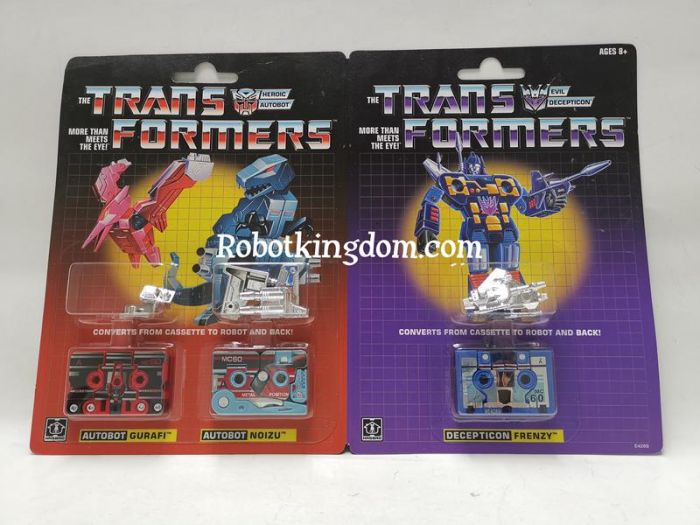 Exclusive Hasbro G1 Transformers Vintage G1 Mini-Cassettes 3-Pack Gurafi, Noizu & Decepticon Frenzy Reissue. Available Now!