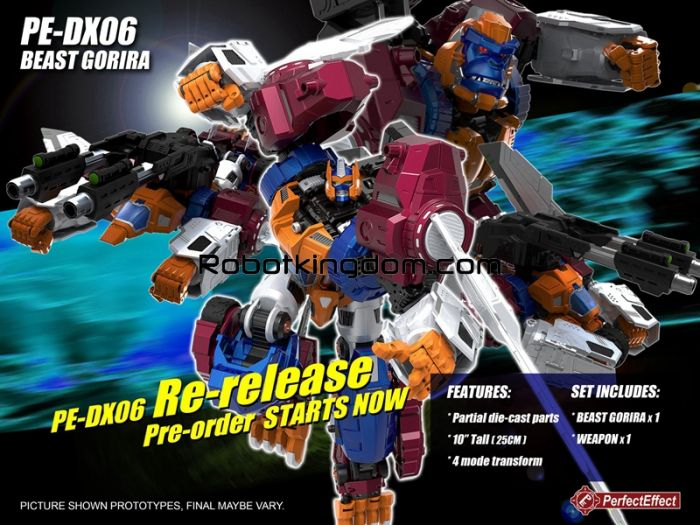 Perfect Effect PE-DX06 Beast Gorira. Available Now!