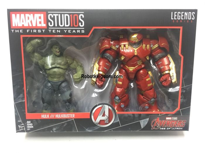 Target Exclusive Marvel Legends Cinematic Universe 10th Anniversary Dark Hulk and Hulkbuster. Available Now!