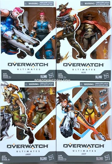 Overwatch Ultimates Core Figure Assortment Wave 2 set of 4 (TRACER, JUNKRAT, MCCREE, POTATO FIGURE). Available Now!
