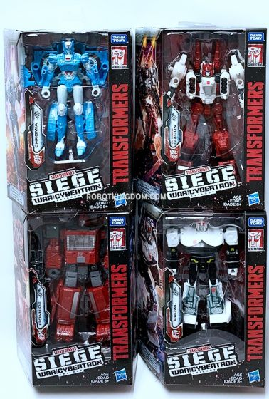 Generations 2019 Siege of cybertron Deluxe Wave 2 set of 4 (CHROMIA, IRONHIDE, SIXGUN, PROWL). Available Now!