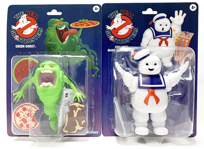 GHOSTBUSTERS KENNER CLASSICS set of 2 (SLIMER, STAY PUFT). Available Now!