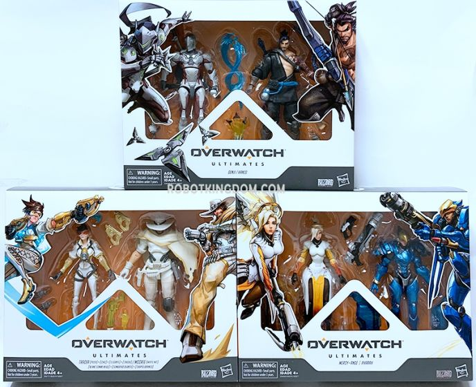 OVERWATCH ULTIMATES DUAL PACK AST Wave 2 set of 4 (MERCY AND PHARAH, HANZO AND GENJI, WH MCCREE AND POSH TRACER ). Available Now!