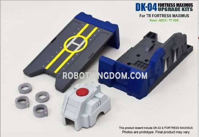 DNA DESIGN DK-04 Fortress Maximus Upgrade Kits-2. Available Now!
