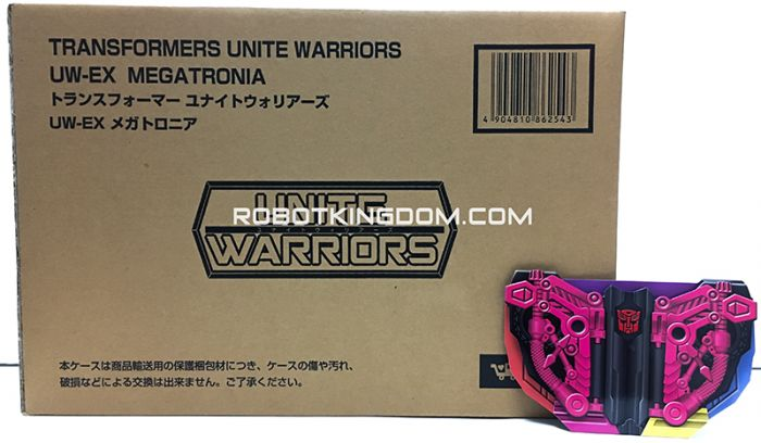 Transformers Takaratomy Mall Exclusive United Warriors UW-EX Megatronia with Exclusive Coin. Available NOW!