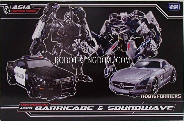 Takara Transformers Asia Premium Series APS-03 Human Alliance Barricade & Soundwave. Available Now!