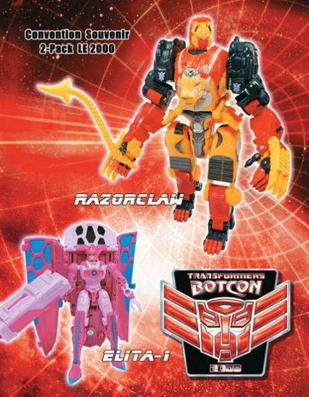 Transformers Botcon 2009 Razorclaw & Elita One. MISB