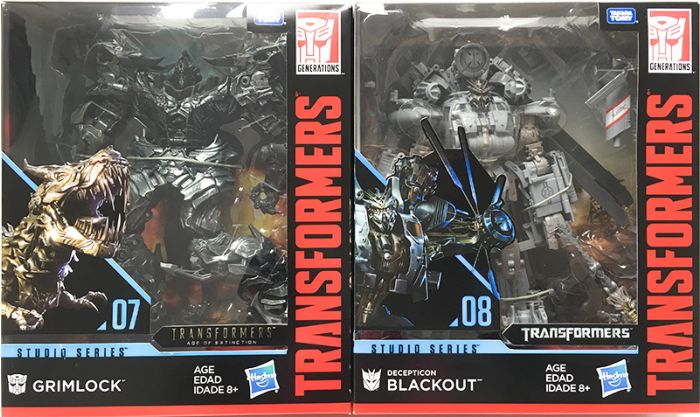 Hasbro Transformers Studio Series  LEADER Wave1 set of 2. (BLACKOUT, GRIMLOCK). Available Now!