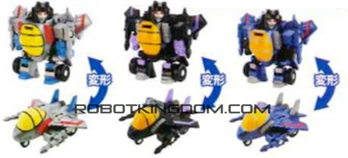 Takara Transformers QTFS-03 Decepticon Jets Set. Preorder! Available in September 2016