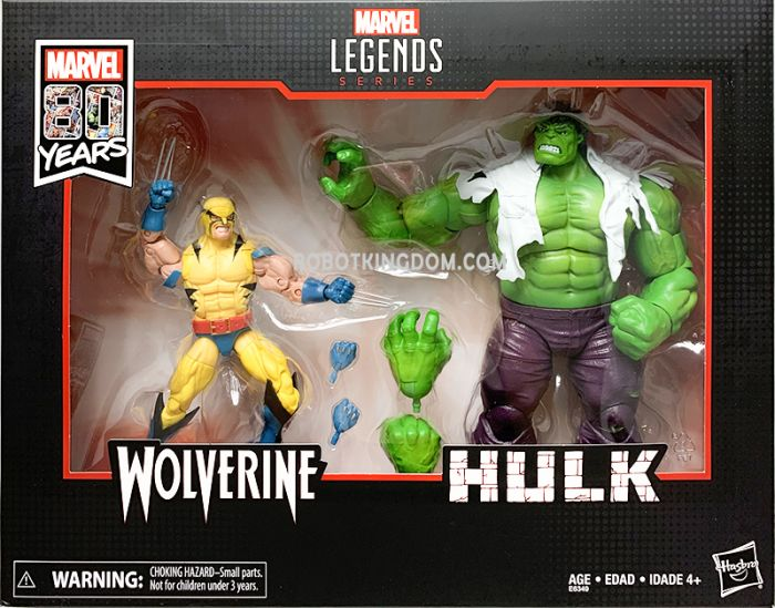 """Marvel Legends 80th Anniversary 6"""" Wolverine and Hulk 2 Pack. Available Now!"""