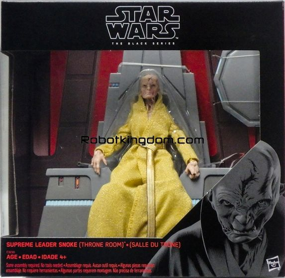 Gamestop Exclusive Star Wars: The Black Series 6-INCH Supreme Leader Snoke Figure & Throne. Available Now!