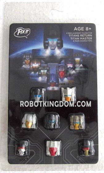 """Fixit Studio FIX IT FI-01 """"8 Replacement faces for TITANS RETURN TITAN MASTER 8 Main Characters"""". Available Now!"""