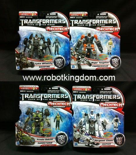 Hasbro Transformers Movie 3 DOTM - MechTech Basic Human Alliance Wave 1 Set of 4. Avaliable Now!