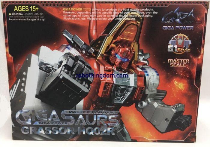 Gigapower Gigasaurs HQ-02 Grassor Chrome. Available Now!