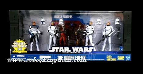 "Hasbro Star Wars 2010 Clone Troopers from ""The Hidden Enemy"" Exclusive Battle Pack."
