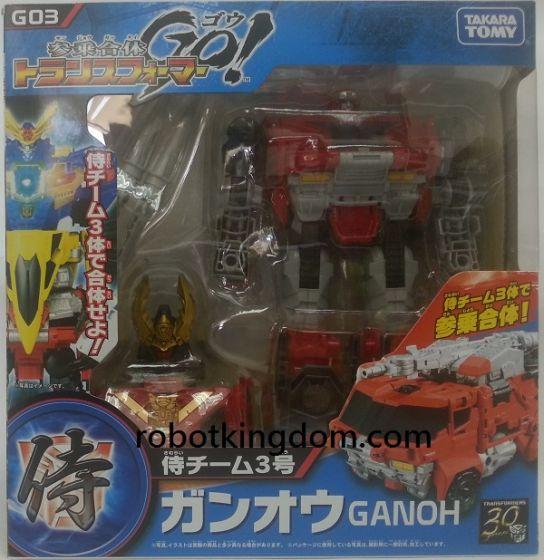 Takara Transformers Go G-03 Ganoh Samurai (Fire truck). Available Now!