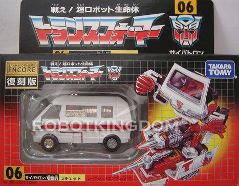 Takara Transformers Encore Reissue #06 Ratchet Available Now!