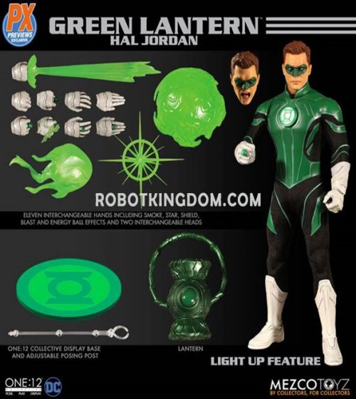 MEZCO TOYZ ONE-12 COLLECTIVE DC PX GREEN LANTERN HAL JORDAN AF. Preorder. Available in September 2019.