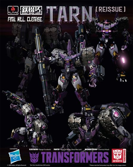 Flame Toys : Transformers [Kuro Kara Kuri] TARN (reissue). Preorder. Available in July 2020.