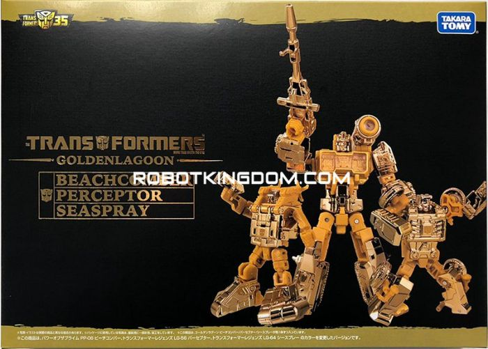 Takaratomy Mall Exclusives Transformers Golden Lagoon Beachcomber, Perceptor and Seaspray set of 3. Available Now!