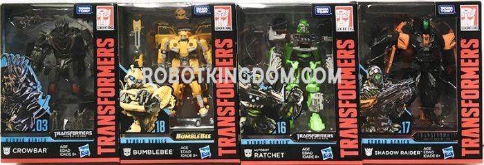 Hasbro Transformers Studio Series DELUXE Wave 3 Case of 8 (CROWBAR, BUMBLEBEE, RATCHET, RAIDER). Available Now!