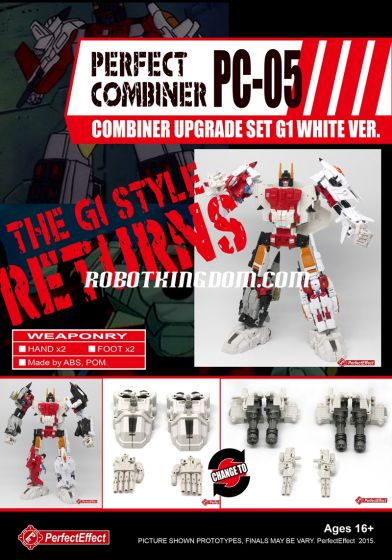 Perfect Effect PC-05 Combiner Upgrade Set G1 White Version. Available Now!