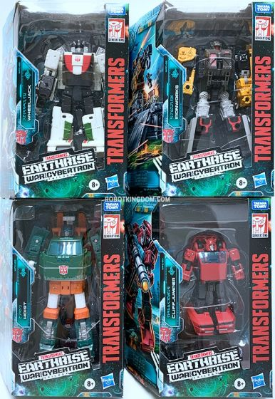 Transformers Generations Earthrise Deluxe set of 4 (HOIST, CLIFFJUMPER, IRONWORKS, WHEELJACK). Available Now!