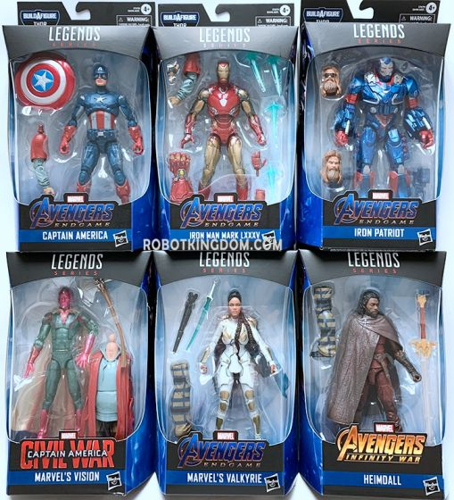 """Hasbro Avengers Endgame Marvel Legends 6"""" 2019 Wave 3 Case of 8 (Ironman, Captain America, Heimdell, Valkyrie, Vision, Warmachine, with BAF Thor). Available Now!"""