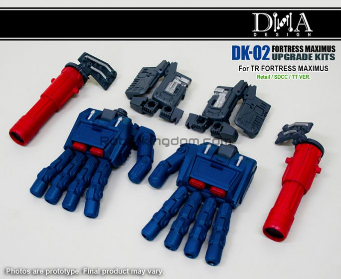 DNA DESIGN DK-02 Upgrade Kit for Fortress Maximus. Preorder. Available in October 2019.