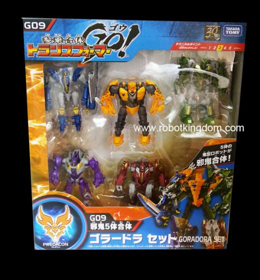 Takara Transformers Go G-09 Evil Demon Combination Goradora set. Available Now!