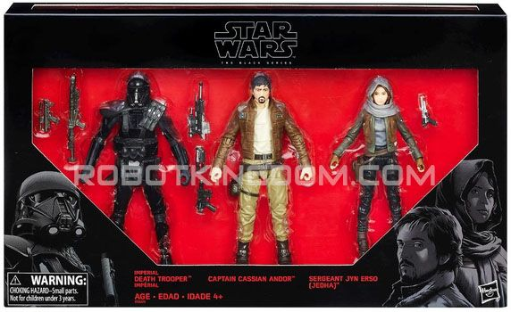 """Star Wars Target Exclusive Rogue One - A Star Wars Story Black Series 6"""" REBELS vs. IMPERIALS 3-PACK. Available NOW!"""