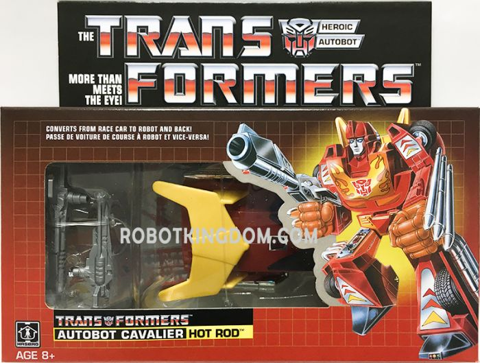 Exclusives TRANSFORMERS G1 Reissue Autobot Hot Rod. Available Now!