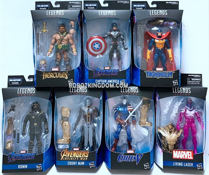"Hasbro Avengers Endgame Marvel Legends 6""  2019 Wave 1 Case of 8(Captain America, Living laser, Citizen V, Ebony Maw, Ronin, Marvel's Hercules, Marvel's Nighthawk). Available Now!"