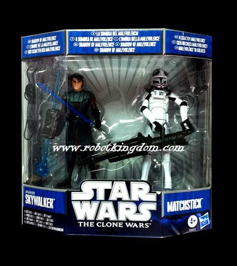 Hasbro Star Wars 2010 Malevolence Collection 2 packs #2 - Anakin Skywalker & Matchstick.