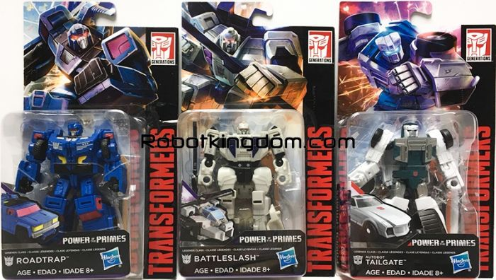 Generations 2018 Power of the Prime LEGENDS Wave 2 cases of 8. (AUTOBOT TAILGATE, BATTLESLASH, ROADTRAP). Available Now!
