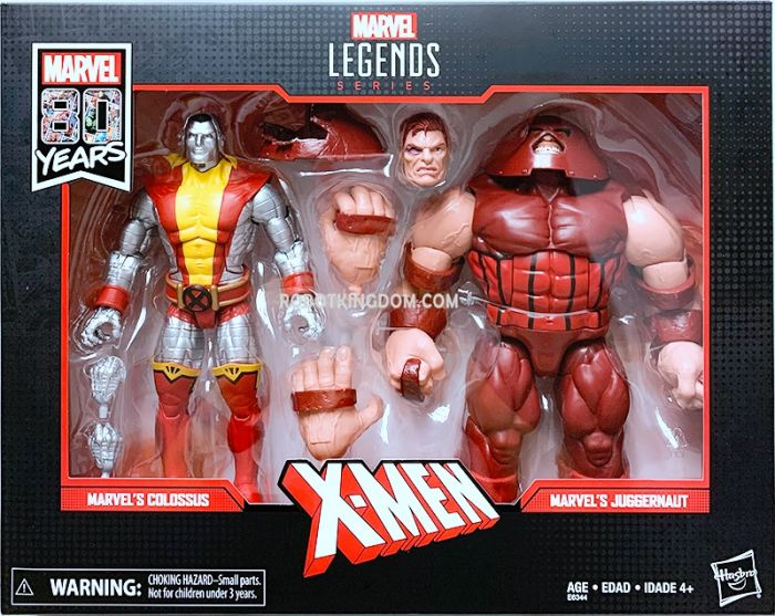 """Marvel Legends 80th Anniversary 6"""" Juggernaut and Collossus 2 Pack. Available Now!"""