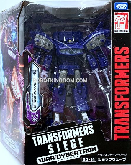 Transformers SIEGE SG-14 Shockwave. Available Now!