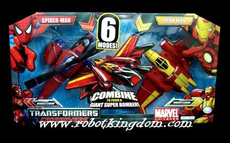 Marvel Transformers Crossovers Deluxe Set - Iron Man & Spiderman. Restock!