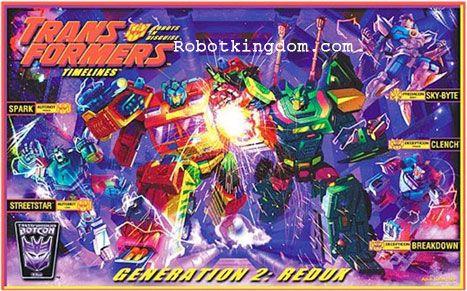 Transformers Botcon 2010 Generation 2: Redux Boxed Set of 5 MISB