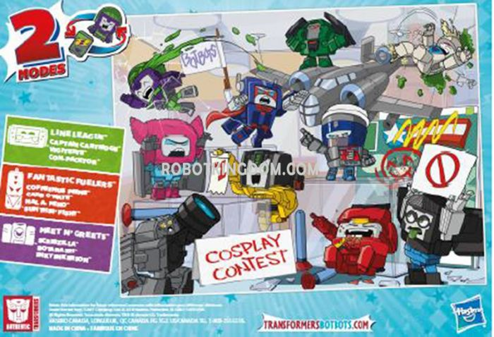 Hasbro SDCC 2019 Exclusive TRANSFORMERS BOTBOTS CON CREW 10-PACK. Available Now!