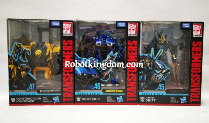 Hasbro Transformers Studio Series DELUXE Wave 7 Case of 8 (DRIFT, BLUE LIGHTN, HIGHTOWER). Available NOW!