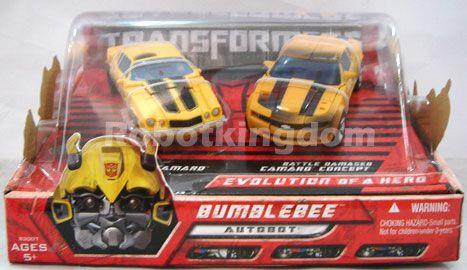 Hasbro Transformers Movie Deluxe Evolution of Hero Bumblebee 2 Pack