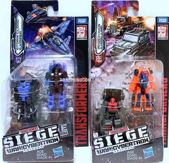 Generations 2019 Siege of cybertron Micromasters Wave 4 set of 2 (AIRSTRIKE, OFF ROAD PATROL). Available Now!